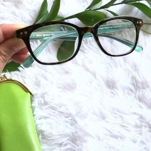 Kate spade eye glasses with green case